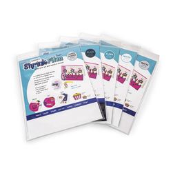 Grafix® Shrink Film - White - Pkg. of 50