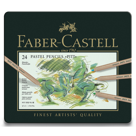 Faber-Castell® PITT® Pastel Pencils - Set of 24