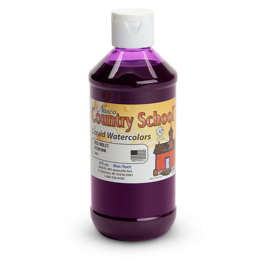 Nasco Country School™ Standard Washable Watercolor - Red Violet - 8 oz.