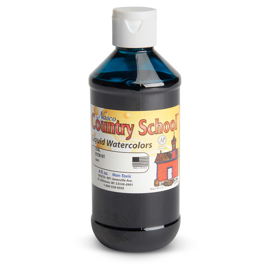 Nasco Country School™ Standard Washable Watercolor - Teal - 8 oz.