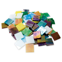 4-lb. Iridescent Stained Glass Chips