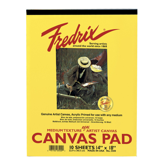 "Fredrix® ""Real""Canvas Pad - 14 in. x 18 in. - 10 Sheets"