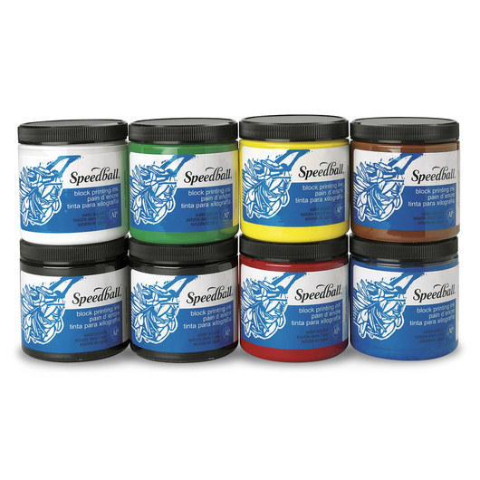 Speedball® Water-Soluble 8-Color Set - 8-oz. Jars