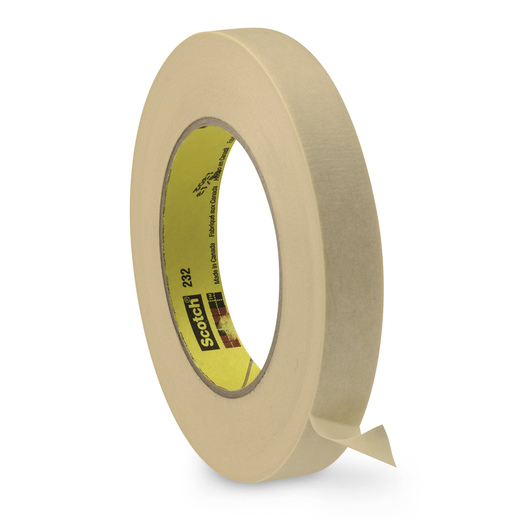 Scotch® High-Performance Masking Tape #232 - 60-yd. Roll, 3/4 in. Wide
