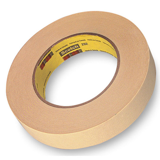 Scotch® High-Performance Masking Tape #232 - 60-yd. Roll, 1 in. Wide