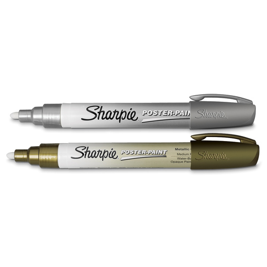Sharpie® Water-Based Metallic Paint Markers - Medium Point Set of 2