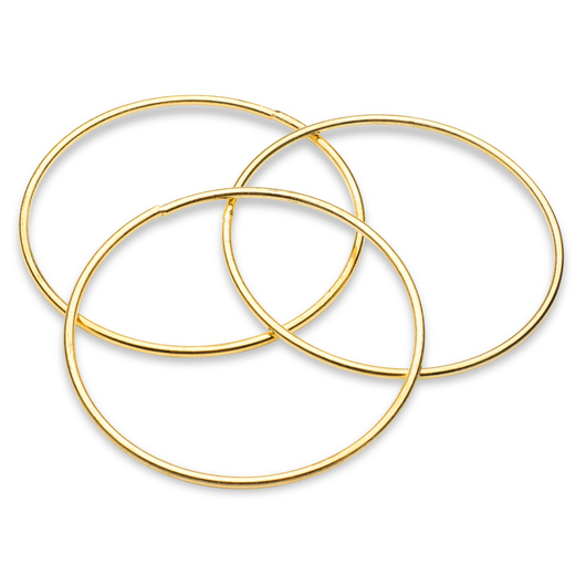 Metal Rings for Macrame - 4 in. Pkg. of 12