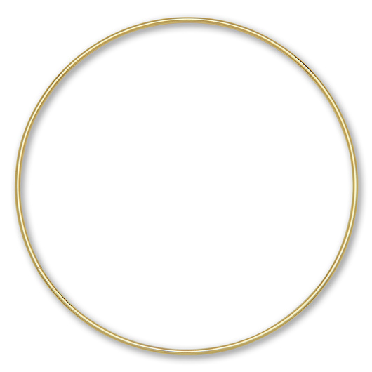 Metal Ring for Macrame - 8 in. Single