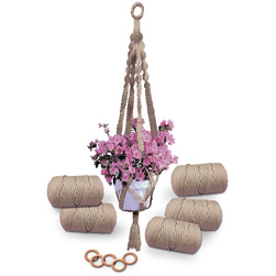 Macrame Plant Hanger Kit - Makes 5 Hangers