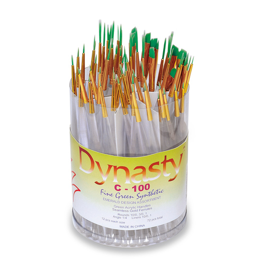 Dynasty® C-100 Emerald Brushes - Set of 72 Brushes
