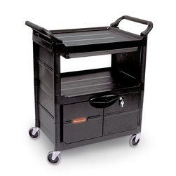 Rubbermaid® Utility Cart with Lockable Doors