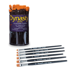 Dynasty® Golden Synthetic Brushes - B-410 Set of 108
