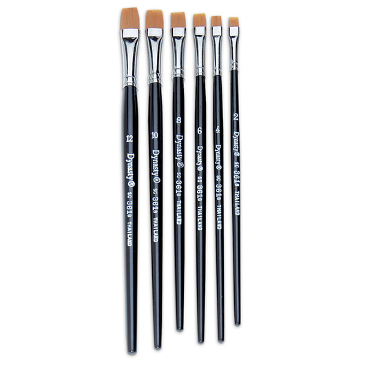 Dynasty® Golden Synthetic Brushes - B-415 Set of 144