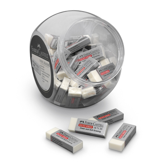 Faber-Castell® Dust-Free Large Erasers - Tub of 40