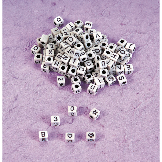 Square Alphabet Beads - Pkg. of 128