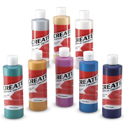 Createx™ Pearlescent Acrylics - Set of 8