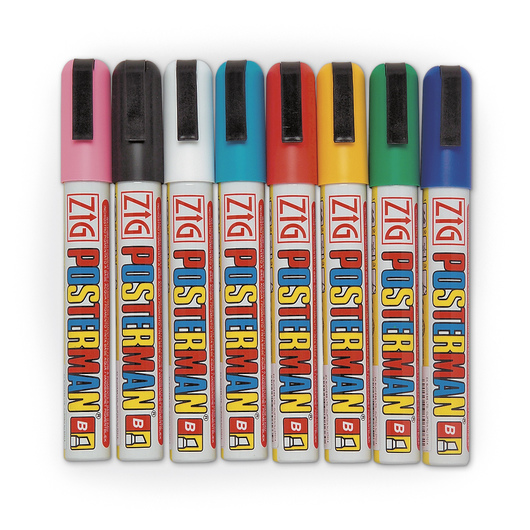 Zig® Posterman™ Chisel Tip Paint Markers - Set of 8