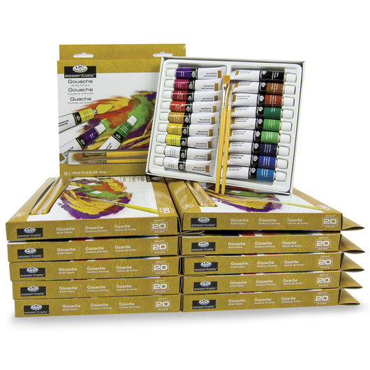 Royal Brush® Essentials Gouache - Classroom Pack of 216 - 12 ml (0.4 oz.) Tubes