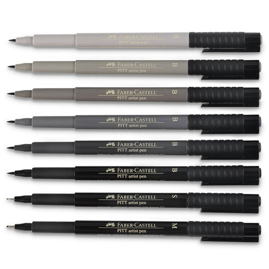 PITT® Manga Pens - Set of 8