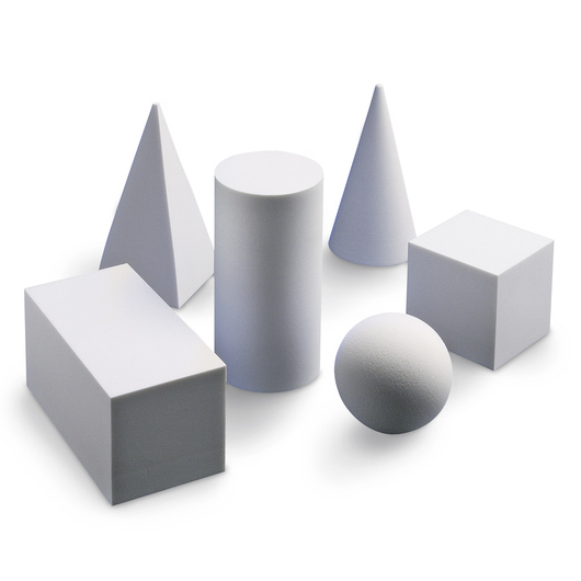 Nasco Geometric Solids - Set of 6 White