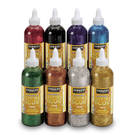 Sargent Art® Washable Glitter Glue - Set of 8 - 8-oz. Bottles