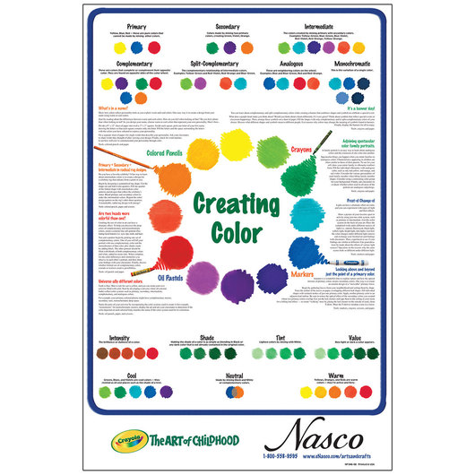 Crayola® Creating Color Nasco Exclusive Poster