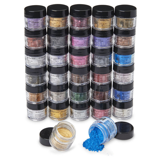 Jacquard® Pearl Ex Powdered Pigments - Set of 32 - 0.11-oz. Jars