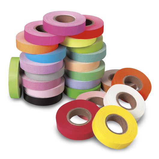 Colored Tape - Set of 24 - 1/2 in. x 500 in. Rolls