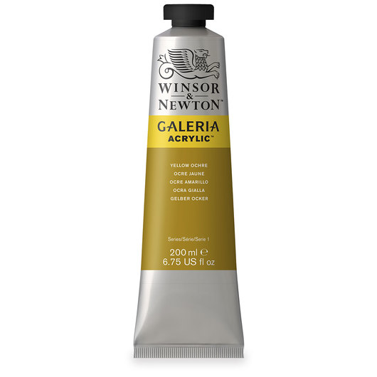 Winsor & Newton™ Galeria™ Acrylic - 200 ml (6.76 oz.) Tube - Yellow Ochre