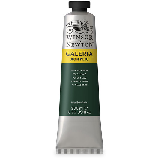 Winsor & Newton™ Galeria™ Acrylic - 200 ml (6.76 oz.) Tube - Phthalo Green