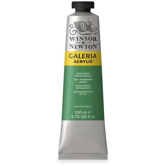 Winsor & Newton™ Galeria™ Acrylic - 200 ml (6.76 oz.) Tube - Permanent Green Middle