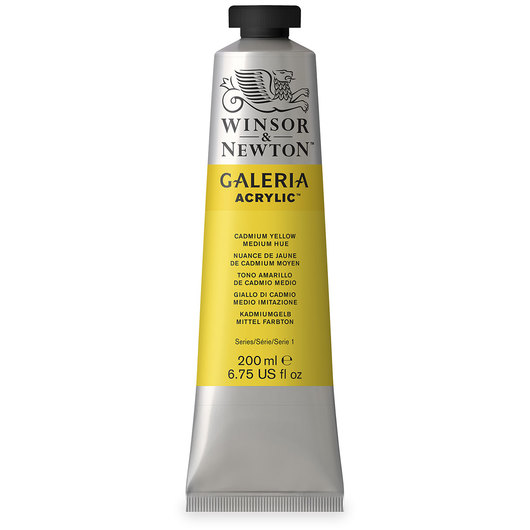 Winsor & Newton™ Galeria™ Acrylic - 200 ml (6.76 oz.) Tube - Cadmium Yellow Medium Hue