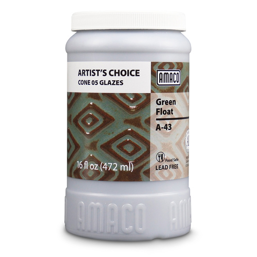AMACO® Lead-Free Low-Fire Artist's Choice Glaze (Cone 05) - A-43 Green Float - Pint