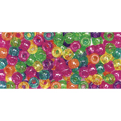 Jelly Sparkle Pony Beads - 9 mm x 6 mm