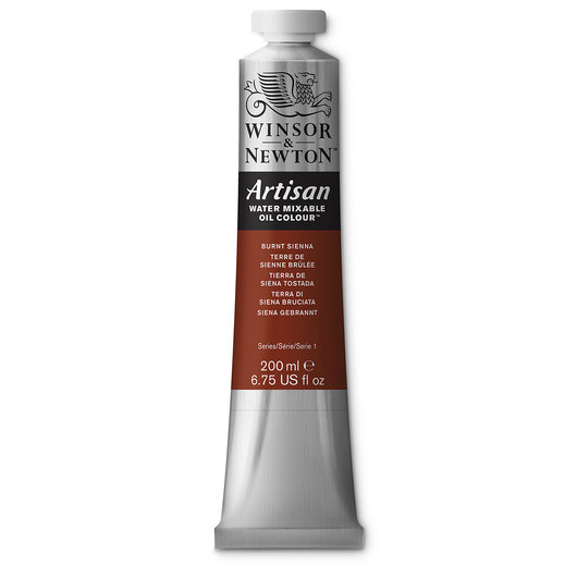 Winsor & Newton™ Artisan™ Water-Mixable Oil Color - 6.75-oz. (200 ml) Tube - Burnt Sienna