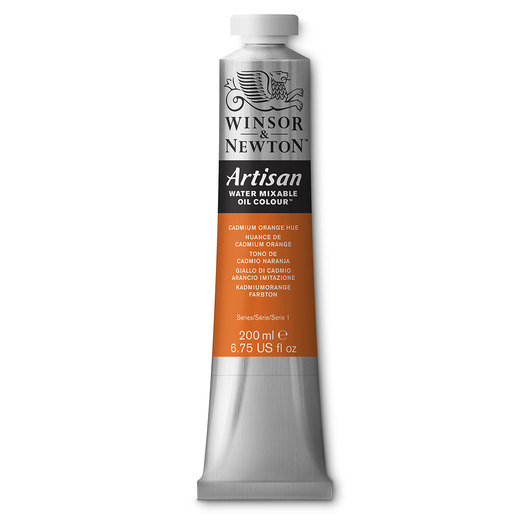 Winsor & Newton™ Artisan™ Water-Mixable Oil Color - 6.75-oz. (200 ml) Tube - Cadmium Orange Hue