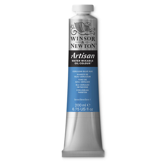 Winsor & Newton™ Artisan™ Water-Mixable Oil Color - 6.75-oz. (200 ml) Tube - Cerulean Blue Hue