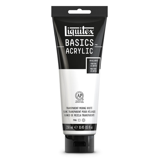 Liquitex® Basics Acrylic - 8-oz. (237 ml) Tube - Transparent Mixing White