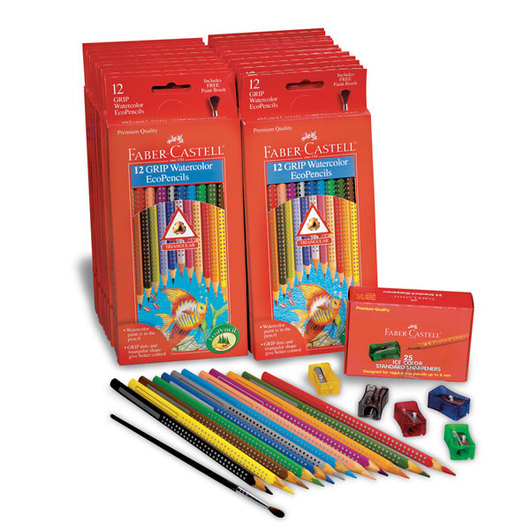 Faber-Castell® Color Grip Watercolor EcoPencils - School Pack of 288