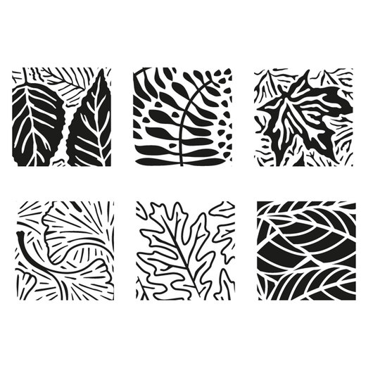 Rubbing Plates - Leaves - Set of 6