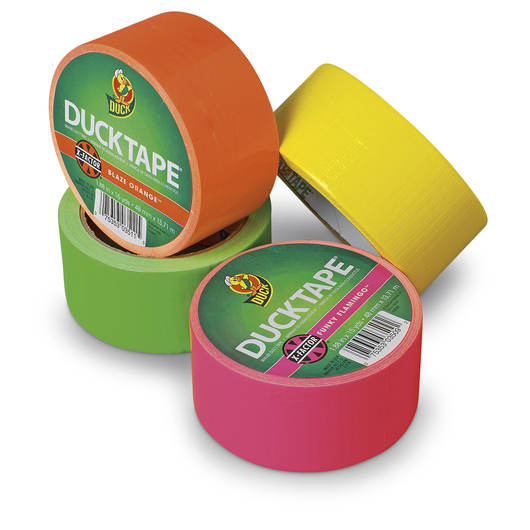 Duck® Brand Neon Duct Tape - Set of 4 - 1.88 in. x 15 yd. Rolls