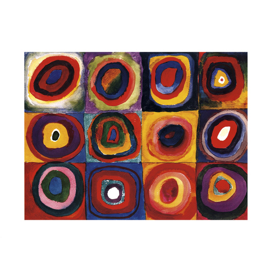 <i>Color Study Squares</i> by Wassily Kandinsky from Eurographics