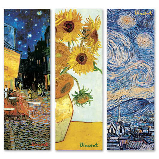 Vincent van Gogh Art Prints - Set of 3 - 36 in. x 12 in.