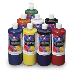 Chromatemp® Tempera Paint - Set of 8 - 32 oz.