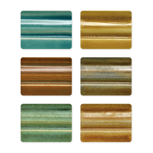 Spectrum® Low-Fire Stoneware Glaze Set #1 - Pack of 6 Pint Jars