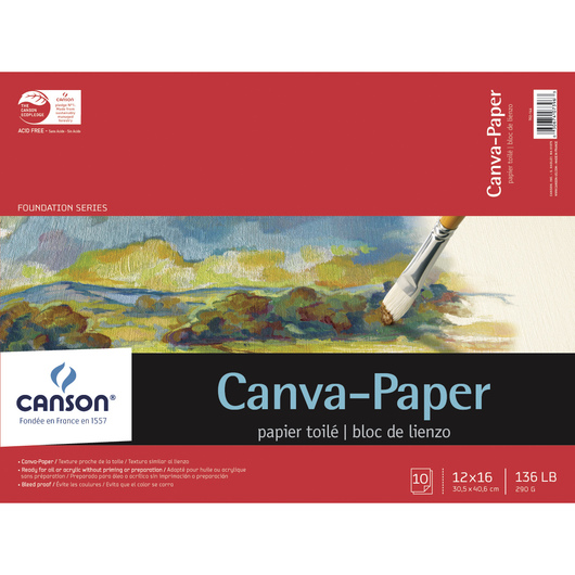 Canson® Canva-Paper™ - 10-Sheet Pad - 12 in. x 16 in.