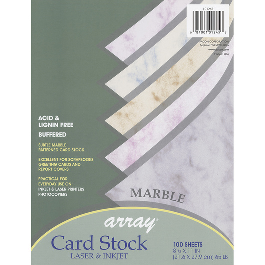 Pacon® Array® Card Stock - Marble Colors