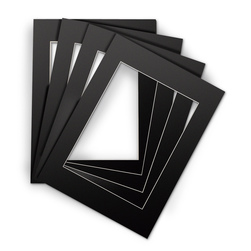 Black Beveled Edge Mats