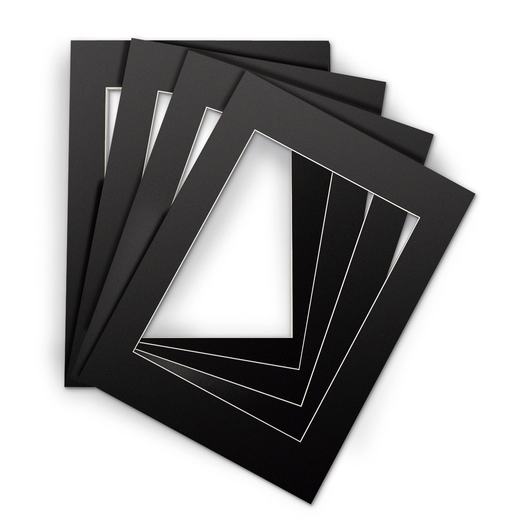 Black Beveled Edge Mats - OD 11 in. x 14 in.