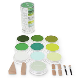 PanPastel® Dry Color Paint - Set of 10 Greens